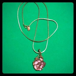 Elegant Parklane Rose pendant necklace